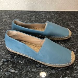 Sam Edelman blue leather Lynn espadrilles slip ons